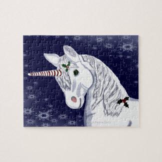 Rompecabezas de la cabeza del unicornio del navida