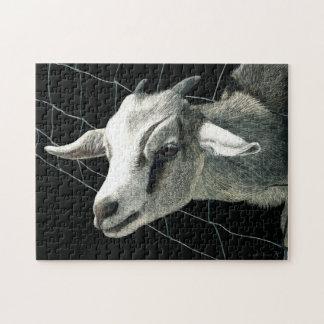"""Rompecabezas de la cabra - """"la hierba es siempre m"""