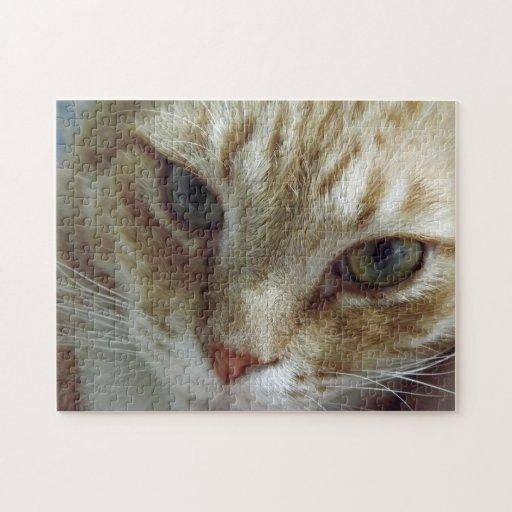 Rompecabezas de la cara del gato
