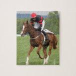 Rompecabezas de la carrera de caballos del césped