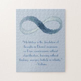 Rompecabezas de la cita de la meditación de Voltai