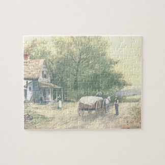 Rompecabezas de la escena de la granja de Amish de