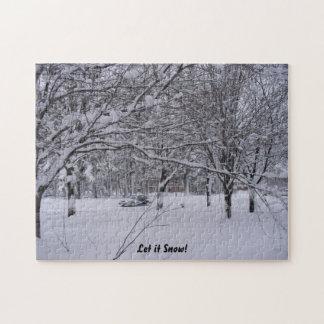 Rompecabezas de la escena de la nieve de Wisconsin