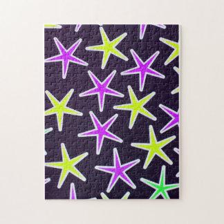 Rompecabezas de la estrella - estrellas del neón