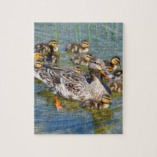 Rompecabezas de la familia del pato