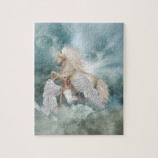 Rompecabezas de la fantasía del ángel del unicorni