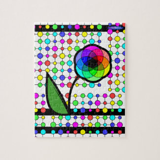Rompecabezas de la flor de la rueda de color