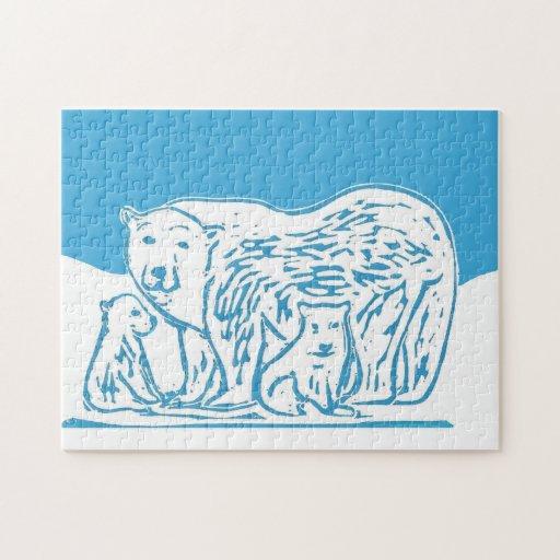 Rompecabezas de la foto de los osos polares