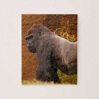 Rompecabezas de la foto del gorila del Silverback