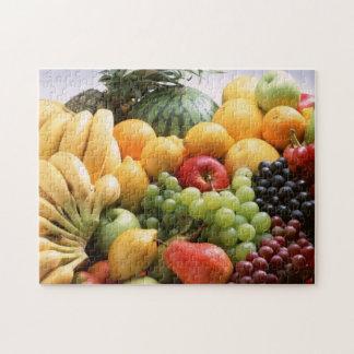 Rompecabezas de la foto del relevo de la fruta