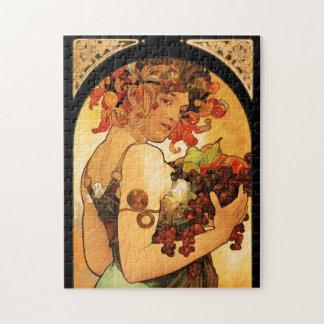 Rompecabezas de la fruta de Alfonso Mucha