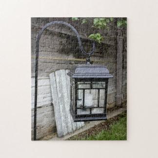 Rompecabezas de la linterna del jardín