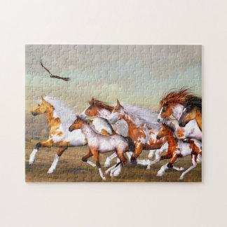 Rompecabezas de la manada del caballo salvaje