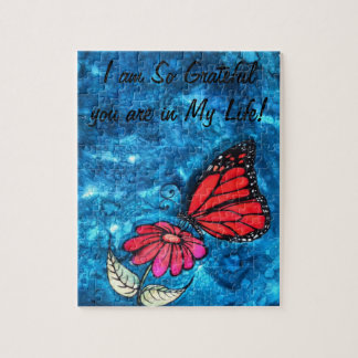 Rompecabezas de la mariposa de monarca de la grati