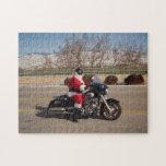 Rompecabezas de la motocicleta de Papá Noel del mo