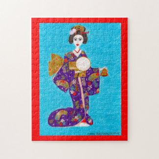 Rompecabezas de la muñeca del geisha