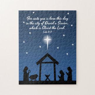 Rompecabezas de la natividad del navidad
