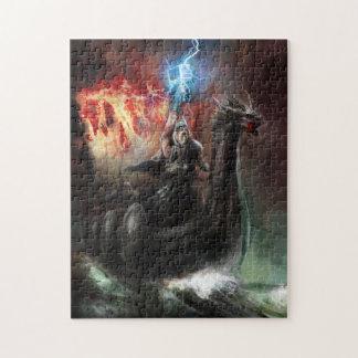 Rompecabezas de la nave de Viking del dragón