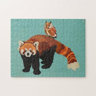 Rompecabezas de la panda roja y del búho