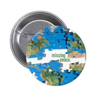 Rompecabezas de la paz de mundo pin