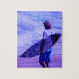 Rompecabezas de la persona que practica surf de Ca