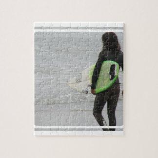 Rompecabezas de la persona que practica surf