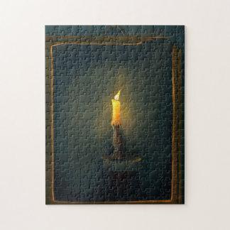 Rompecabezas de la pintura de la luz de una vela
