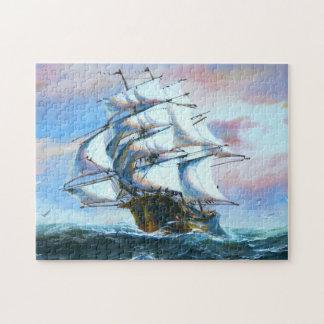 Rompecabezas de la pintura de la nave de la vela