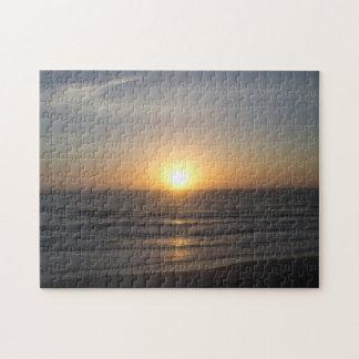 Rompecabezas de la salida del sol de la playa