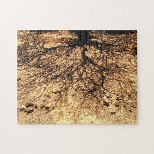 Rompecabezas de la sombra del árbol