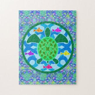 Rompecabezas de la tortuga de mar verde