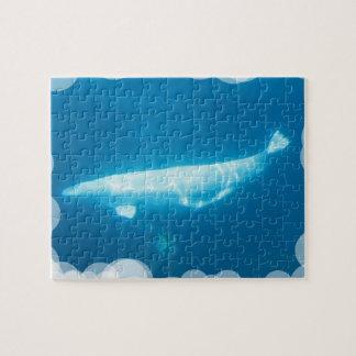 Rompecabezas de las ballenas de la beluga de la na