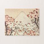 Rompecabezas de las flores de cerezo de Hokusai el
