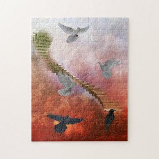 Rompecabezas de las palomas y de los cuervos