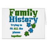 Rompecabezas de los antecedentes familiares tarjetas