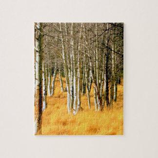 rompecabezas de los árboles del álamo temblón