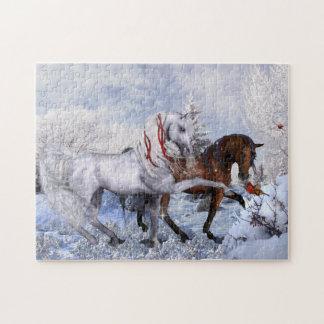 Rompecabezas de los caballos del navidad