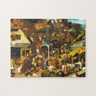 Rompecabezas de los proverbios de Pieter Bruegel N