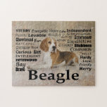 Rompecabezas de los rasgos del beagle