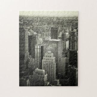 Rompecabezas de New York City - blanco y negro