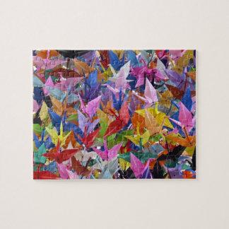 Rompecabezas de papel de 1.000 grúas de Origami