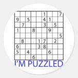 Rompecabezas de Sudoku Pegatina Redonda