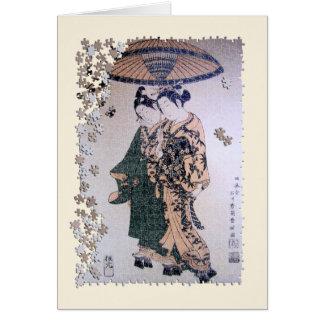 Rompecabezas de Ukiyo Kabuki Tarjetón