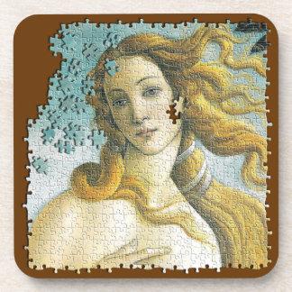 Rompecabezas de Venus Botticelli Posavasos De Bebida