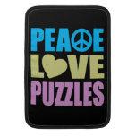 Rompecabezas del amor de la paz funda para macbook air