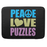 Rompecabezas del amor de la paz fundas macbook pro
