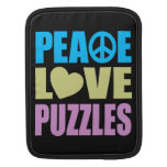 Rompecabezas del amor de la paz mangas de iPad
