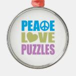 Rompecabezas del amor de la paz ornato