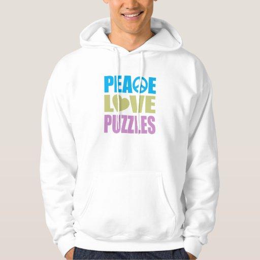 Rompecabezas del amor de la paz sudadera