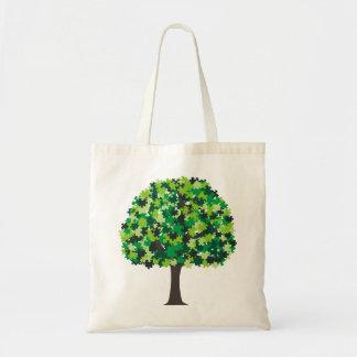 Rompecabezas del árbol de familia bolsa tela barata